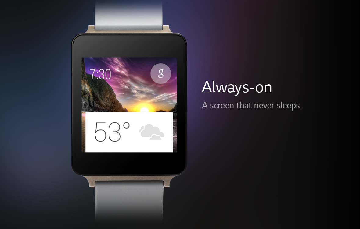 google i/o lg g watch