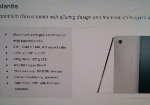 HTC Volantis tablet