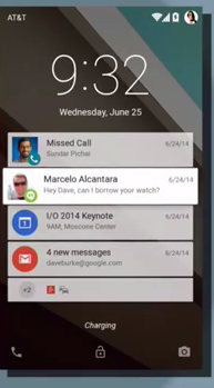 material notifications android L