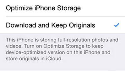 Optimizeaza imaginile iOS 8